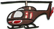 Helicopter chopper copter kids flying fun sewing applique iron-on patch S-742