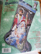 Christmas Bucilla Needlepoint Stocking Kit,AWAY IN A MANGER,Nativity,#84417,18""