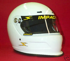 Impact Charger Racing Helmet White Full Face SA2015 Your Choice of S,M,L,XL