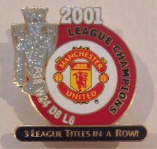 Manchester United 2001 Premier League Champions Danbury Mint Victory Pin Badge