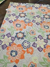 Frontgate Ravella Floral Purple Spring Indoor Outdoor Patio Area Rug Mat 5x7.5