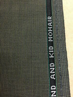 2.5 Metres Tan Puppytooth Super 120s Wool & Kid Mohair Suit Fabric