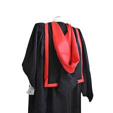 Graduation Complet Forme Capuche Rouge Écarlate Université Diplômés Maîtres