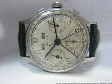 Iconic Vintage Gallet Triple Date valjoux 72c Chronograph Watch 1940s Multichron