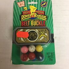 1995 Mighty Morphin Power Rangers CLIP-ON BELT BUCKLE GUMBALL DISPENSER - YELLOW
