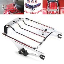 Chrome Two Up Luggage Rack For Harley Touring Street Glide Road King 2009-2018
