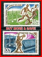 AFARS & ISSAS 1970 SPORTS SC#315-16 MNH CV$7.00 SPORTS, SOCCER, FOOTBALL