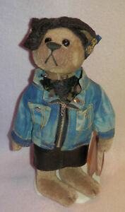"""Brass Button Bears """"Roxy"""" 1980's 20th Century Collectibles * 12 IN * WITH STAND"""