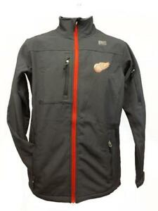 New Detroit Red Wings MENS Adult Size S-XL-2XL Gray Hard Shell Full Zip Jacket