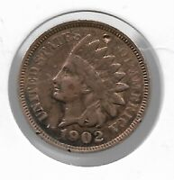 Rare Very Old Antique US 1902 Indian Head Penny USA Collection Coin Cent LOT:V41