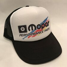 Vintage Mopar Performance Parts Trucker Hat Dodge Mesh Style Snapback Splash Cap