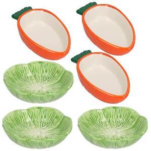 Small Animals Small Lettuce Green Leaf  & Carrot Feeding Bowl Treat Pots