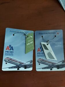 American Airlines MD-80 Keychain skin by Planetags. Lot of 2