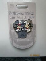 NEW Disney Parks 2020 Epcot Food & Wine 25th Anniversary Chef Mickey Minnie Pin