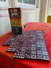 1950's VINTAGE HALSAM DOUBLE NINE CLUB DOMINOES 55PIECES NO 200 Missing 2 Pcs.