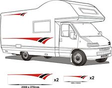MOTORHOME VINYL GRAPHICS STICKERS DECALS SET CAMPER VAN RV CARAVAN HORSEBOX set2