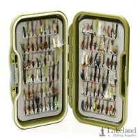 Waterproof Fly Box + Assorted Mixed Nymph Flies for Trout & Grayling Fly Fishing