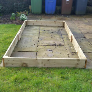 """4ft x 8ft x 6"""" High Raised Bed FSC Timber with FREE Irrigation System Kit Grow"""