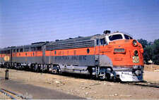 Western Pacific F7 Diesel locomotive #805-D train postcard Feather River Route