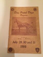 Vintage 1966 Dan Patch Days Program Savage Minnesota