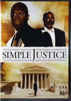 Simple Justice NEW DVD Chronicles Charles Houston and Thurgood Marshall Drama