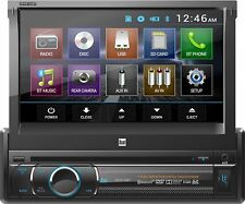"""Dual In-Dash DVD Multimedia Receiver w/ 7""""Pop-Up Touchscreen Display & Bluetooth"""