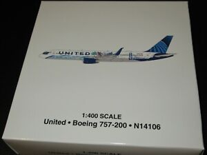 """Gemini Jets 1:400 United 757-200 """"Her Art Here"""" Excellent Condition in Box"""