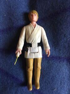 Vintage Star Wars Luke Skywalker Farmboy Action Figure 1977 Brown Hair Original