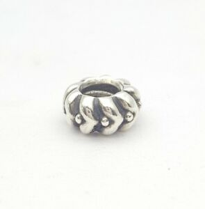 Genuine Pandora Silver Hearts and Dots Spacer Charm