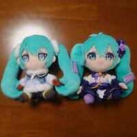 Hatsune Miku Winter Image Plush 2021 Ver. 2 Set Cat Glasses 6.2in