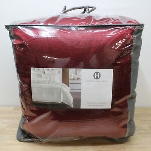Hotel Collection FULL/QUEEN Comforter Luxe Border Red J0Z282