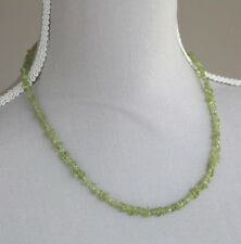 """PERIDOT NECKLACE ~ 925 STERLING SILVER CLASP 19"""" AUGUST BIRTHSTONE"""
