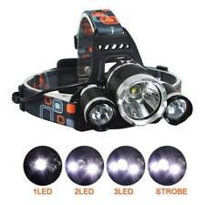 6000 Lm Lumens 3 X XML cree T6 LED Linterna Recargable Cabeza Antorcha Lámpara Luz