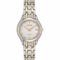 Citizen Eco-Drive Women's Diamond Accents Calendar Gold 27mm Watch GA1064-56A