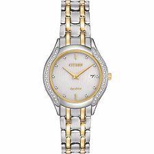 Citizen Eco-Drive Women's GA1064-56A Diamond Accents Two Tone Dress Watch