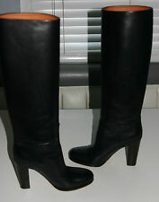 CELENE Classic Black Tall Knee High Leather Boots BRAND NEW IN BOX--- Size 9.5