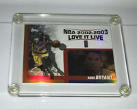 KOBE BRYANT 2003-04 Topps Love It Live #LL-KB Insert Card Los Angeles Lakers🐐💰