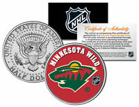 MINNESOTA WILD NHL Hockey JFK Kennedy Half Dollar U.S. Coin * LICENSED *
