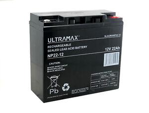 Ultramax 22Ah12V AGM/GEL GOLF TROLLEY BATTERY (18+ Holes) MOCAD, FRASER