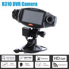 "Dual Lens Car DVR 2.7"" HD Vehicle Video Camera Dash Cam Recorder Night Vision"