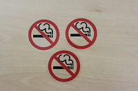 3 NO SMOKING STICKERS TAXI METERS CABS  SEE THROUGH  DOOR SIGNS,
