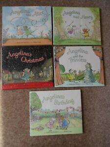 Angelina Ballerina Children's Books Bundle 5 Hardback Books Good Condition