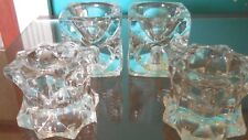 Lot of Four Pair Mikasa Star and Chech Pair Cube Taper/Tealight Candle Holders