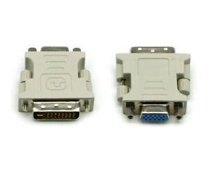 DVI-I MALE DVI 24+5 PIN to VGA SVGA FEMALE 15PIN MONITOR ADAPTER CONVERTER