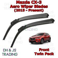 (15-19) Mazda CX-3 Aero Wiper Blades / Front Windscreen Flat Blade Wipers
