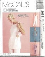 McCalls Sewing Pattern # 2668 Misses Tunic and Pants in 2 Lengths Size 8-10-12