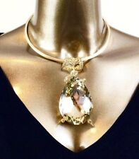 NECKLACE - LARGE CHAMPAGNE TEARDROP PENDANT