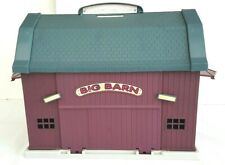 Big Barn Farm Animals Trucks Fence Trees Farmer Figures Hay Baley Playset Toys