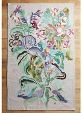 Anthropologie Paradise Found Shelley Hesse Crewel Rug- 5 x 8 Or Tapestry