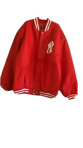 New York Yankees wool & leather JH Design jacket NWT adult size 6XL